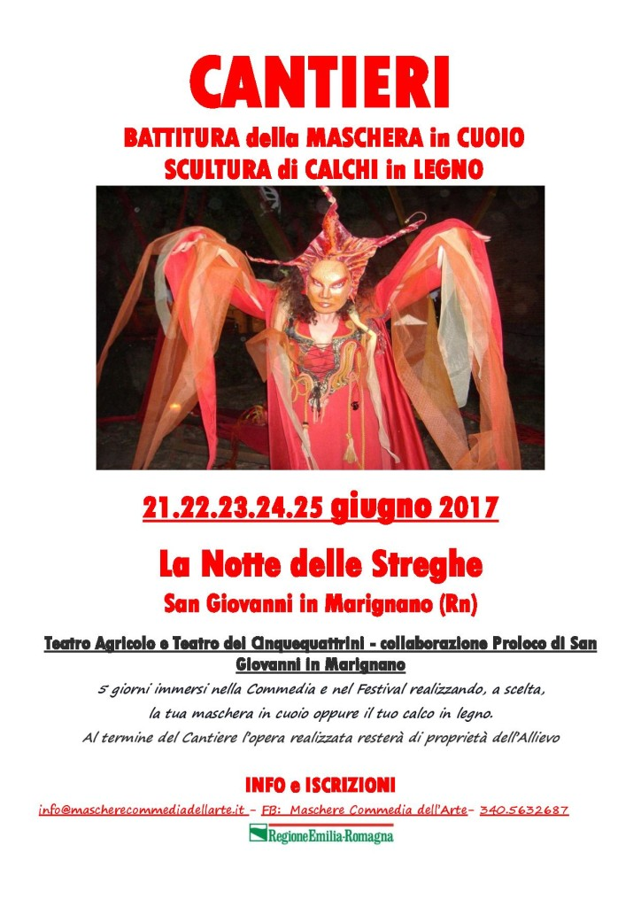 Locandina Cantieri Streghe 2017